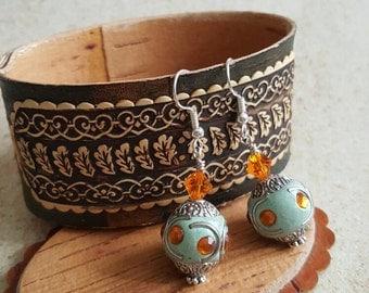 Bollywood Bead Earrings, Bollywood Bead Dangle Earrings
