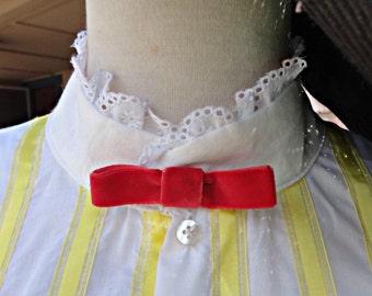 Red velvet Mary Poppins bow tie