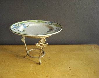 A Leg Up - Vintage Brass Plant Stand - Vintage Brass Cake Stand