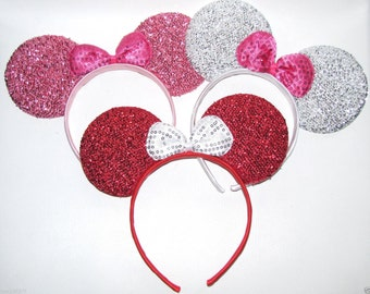 10 minnie mouse inspired party favor headband bow ears disneyland birthday DIY hair accessorie pink