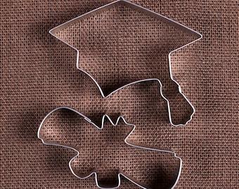 Graduation Cookie Cutter Set, Graduation Cap Cookie Cutter, Diploma Cookie Cutters, Metal Cookie Cutters, Biscuit Cutter, Pastry Cutters