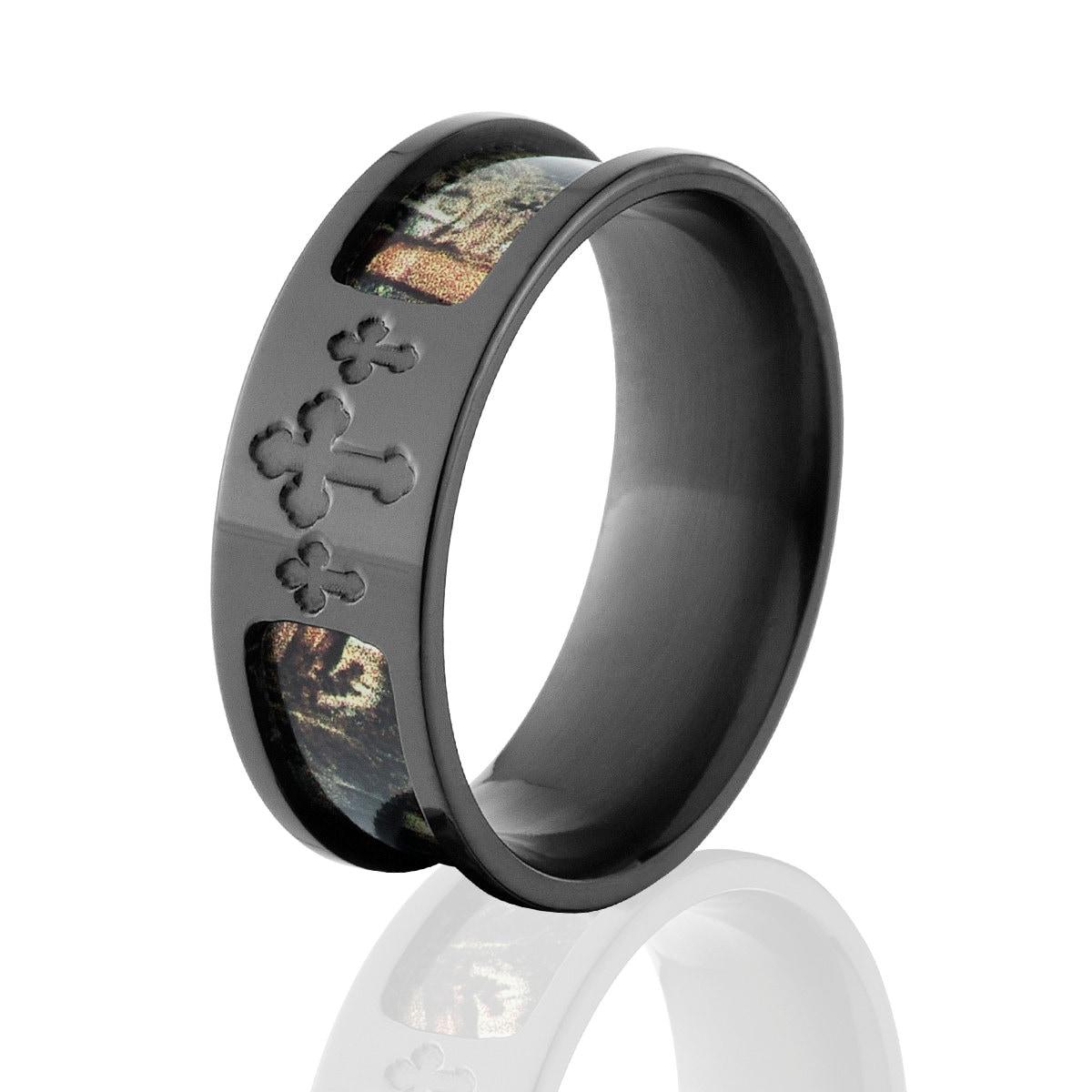 Realtree Wedding Rings: Celtic Cross Camo Rings RealTree Camo Rings Camo Wedding