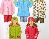Coat Sewing Pattern UNCUT McCalls M4961 Sizes 3-6