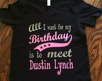 All I want for my birthday t shirt