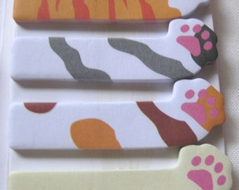 Sideways Kitty Cat paws sticky note for planner scrapbooking card making paper memo kawaii ship from USA