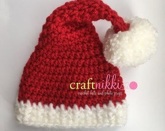 CLEARANCE! Baby Santa Hat Ready to Ship