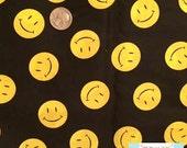 LAST HALF Yard , Smiley Face Fabric, 1/2 yard