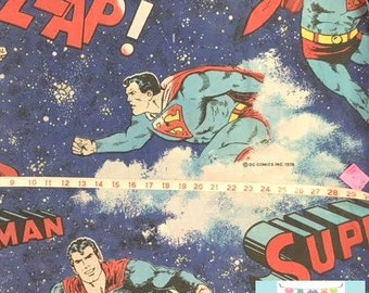 Twin Vintage Blue Superman Fitted Sheet