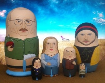 Breaking Bad Family Portrait Matryoshka Dolls