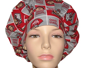 Scrub Hats - The Ohio State University Buckeyes Fabric