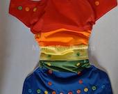 Scrappy PUL Rainbow OS Pocket diaper Made to order- Cloth diaper- pocket diaper- diaper cover- all in one- ROYGBP- rainbow- rainbow baby