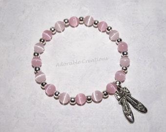 Light Pink & Pink Ballerina Ballet Slippers Bracelet