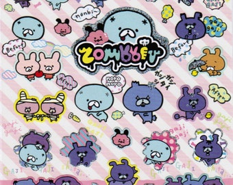 San-X Zombbit Sticker Sheet - SE20301