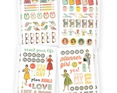 """Reset Girl Icons Stickers 4""""X6"""" 8/Pkg • Planner Stickers (4991)"""