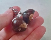 Real Buckeyes Earrings, Hypo Allergenic Earwires, Silver and Black #53509, FREE SHIPPING