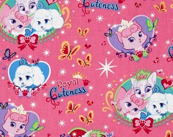 Custom Fitted Crib ~ Toddler Bed Sheet ~ Palace Pets ~ Princess ~ Pink
