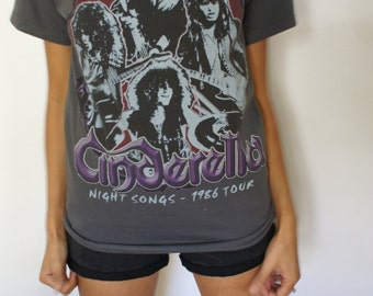 1980's Cinderella Vintage concert t-shirt 1986