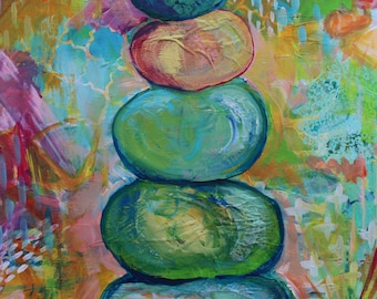 SALE! Finding Balance - Original Painting by MaryLea Harris