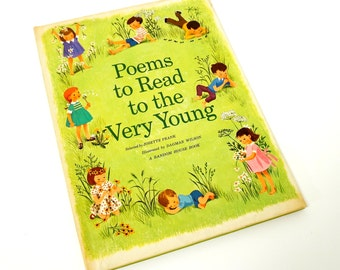 Poems to Read To The Very Young 1961 VGC Hc / Oversized Vintage Childrens Book
