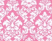 oop htf Michael Miller Candy Pink and Ivory Dandy Damask Fabric