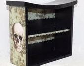 Display Cabinet Gothic - Skull Display Cabinet - Dark Home Decor