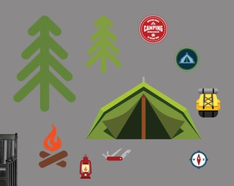 Camping Set - Printed Nursery and Kid's Room Wall Decals