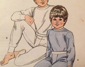 SALE - Vintage - Kwik Sew Pattern 1294 - Boys' Thermal Underwear - Size 4-7 - Designed for Stretch Knits