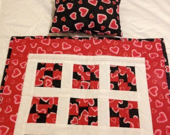 American Girl Doll Quilt & Matching Pillow-FREE Shipping for a limited time!