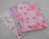 pretty in pink..trio of vintage cotton pillowcases