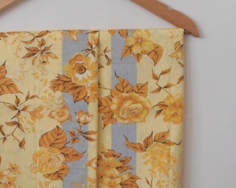 golden roses...pair of vintage cotton pillowcases