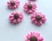 pink fondant daisy flower...