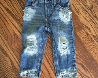 Tore Up from the Floor Up distressed baby jeans (medium/light wash)