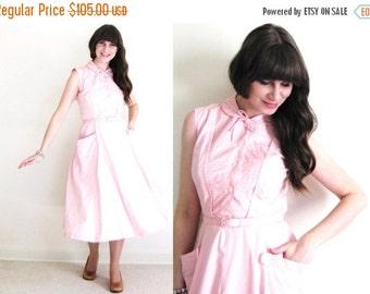 ON SALE Pink 50s Dress / 1950s Dress