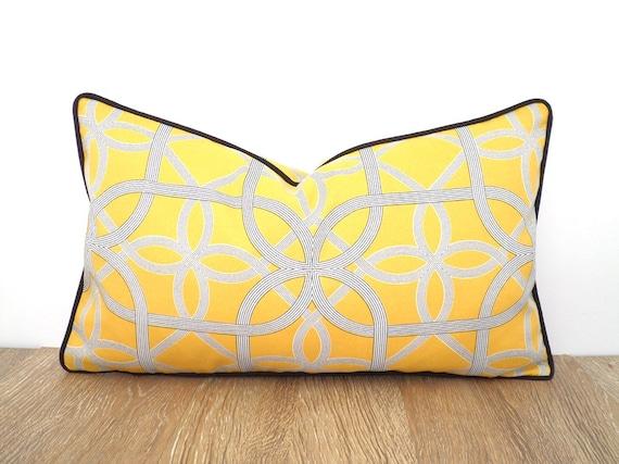 Yellow outdoor pillow case modern outdoor patio decor