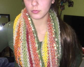 Fall Colors infinity capelet scarf cowl