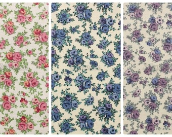 3 pcs of Liberty fabrics printed in Japan- Aby