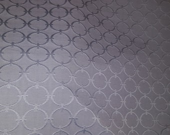 Gray EMBOSSED CIRCLES RETRO Textured Heavy Cotton Upholstery Fabric,  25-14-04-0515
