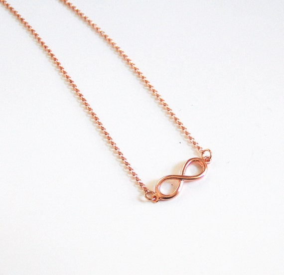 gold filled necklace with infinity charm everyday