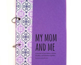 Mother Daughter Journal, Diary, Mom Daughter Child Journal - My Mom and Me in purple grape