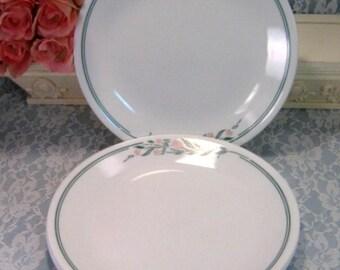 Corelle Corning Ware Rosemarie Dinner Plate, Set of Four, Vintage Mid Century Dinnerware, Kitchen Pyroceram Glass, Corning Ware Casserole