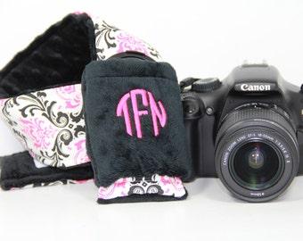 Personalized Camera Strap Cover Set Canon Nikon