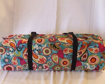 Silhouette Cameo Carrying Case / Cricut Expression Tote / Scrapbooking Tote / Funky Paisley Fabric