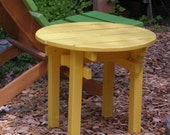 Colorful Pine Round Top Side Table End Table for Outdoor & Indoor Uses (available in 15 Stain Colors) handcrafted by Laughing Creek