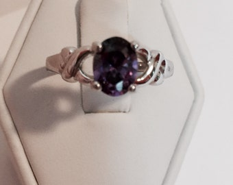 Amethyst  Oval Stone in Antique Setting Size 8