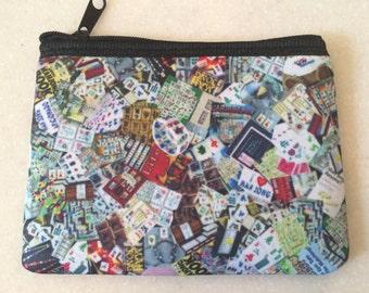 Mah Jongg Zipper Pouch Wallet