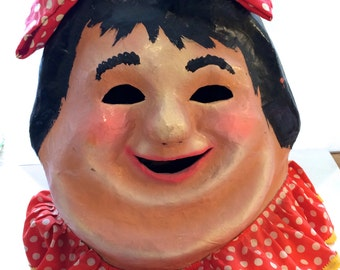 "1950's Parade Head - Papier Mache ""Fat Lady"" Toronto Santa Claus Parade"