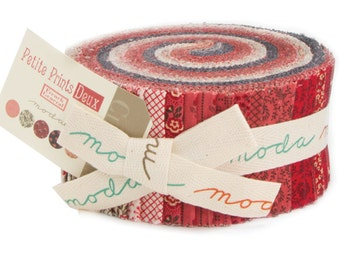 "Petite Prints Deux Jelly Roll by French General for Moda Fabrics 13750JR 40 2.5"" x 42"" Fabric Strips"