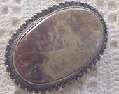 Vintage Brooch 800 Silver Italy