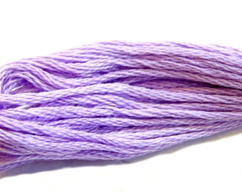 DMC embroidery floss, 210 medium lavender, DMC floss, cross stitching, 5 skeins of stranded cotton floss, cross stitch thread, DMC skeins