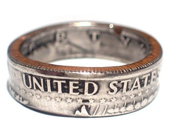 Kennedy half Dollar RING! Made from a genuine US Half Dollar coin! pick your size